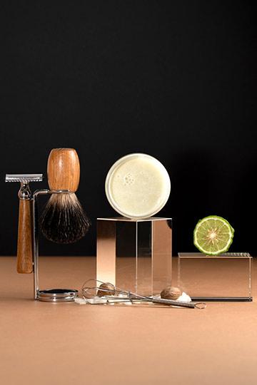 Pain de rasage façon barbier - karité & bergamote
