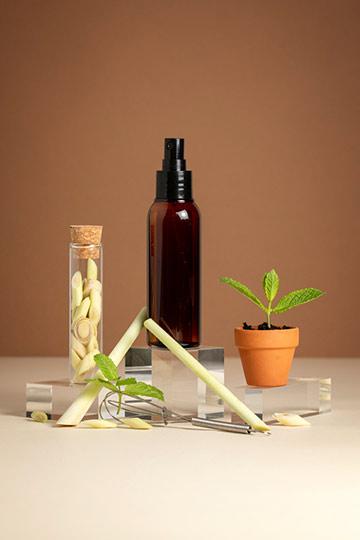 Huile de massage tonique menthe & lemongrass