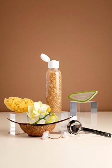 Gel nettoyant exfoliant coco & vanille