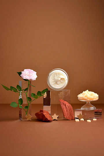 Crème nuit peaux sèches rose & cacao blanc