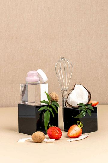 Stick lèvres teinté coco-fraise