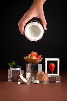 Purée de fraise & coco en masque exfoliant - 1