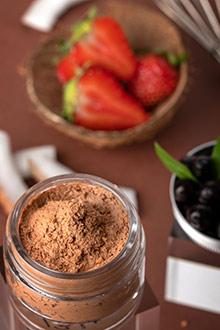 Purée de fraise & coco en masque exfoliant - 2
