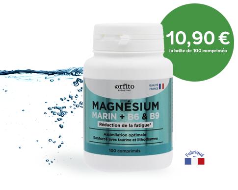 Magnésium marin renforcé B6, B9 Orfito